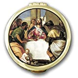 Cathedral Art SPC33 Jesus Pyx Eucharist Container, 2-1/8-Inch