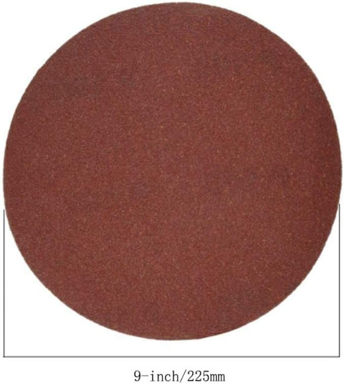 9-Inch/225mm Sanding Disc 40-2000 Grits Aluminum Oxide Flocking Back Sandpapers for Sanders 50 Pcs,9-Inch 150 Grits 9-inch 1500 Grits