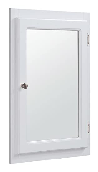 design house concord corner medicine cabinet white 18