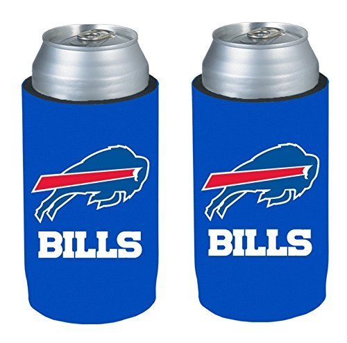 NFL 2013 Football Ultra Slim Beer Can Holder Koozie 2-Pack - Pick your team (Buffalo -