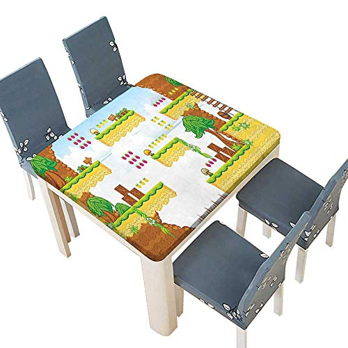 PINAFORE Polyester Tablecloths Cartoon Retro Computer Graphic Kids