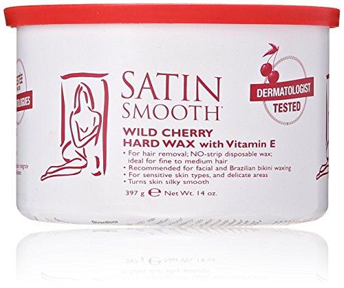 Hard Wax Gold (Satin Smooth Wild Cherry Hard Wax with Vitamin E, 14 oz.)