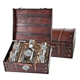Mississippi State Bulldogs Capitol Decanter Wood Chest Set