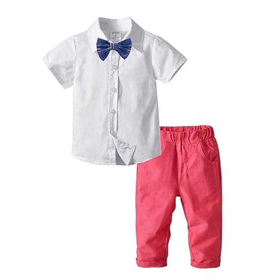 Baiomawzh Ropa Bebe Niño Verano 1a 2 3 4 5 Camisa Color ...