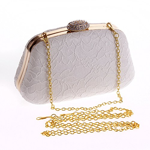 evening Apricot clutch tide bag small evening bag lace chain Wallets square bag bag 1qX7S5cwx