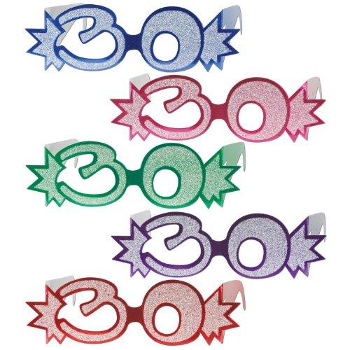 Beistle 54840 30 25 Pack Glittered Eyeglasses