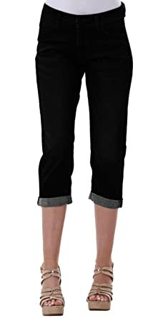 Ladies Denim Cropped Jeans Skinny Cotton Womens 3 4 Length Indigo Slim Pants 932515218c