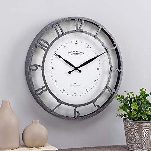 FirsTime Co. Galvanized Kensington Whisper Clock