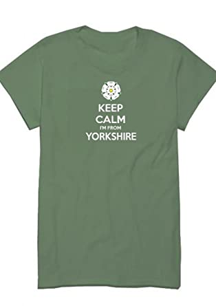 8dcaa431cc3d Eazzy-Teez Keep Calm I'm From Yorkshire,Men's Funny T-Shirt: Amazon ...