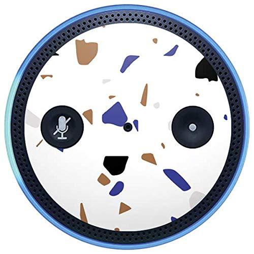 Skinit Speckle Amazon Echo Plus Skin - White Terrazzo Design - Ultra Thin, Lightweight Vinyl Decal Protection