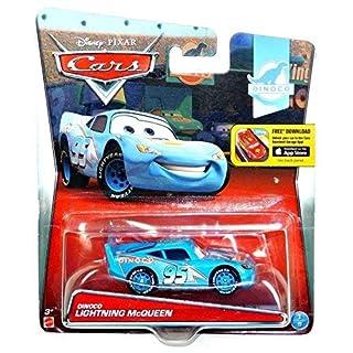 Disney Cars Pixar Dinoco Lightning Mcqueen 1:55 Scale Diecast #1 of 8 With App Store Download Logo