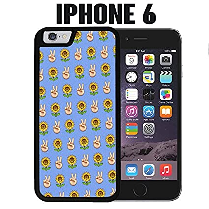 Amazon com: iPhone Case Sunflower Peace Symbol Emoji Pattern