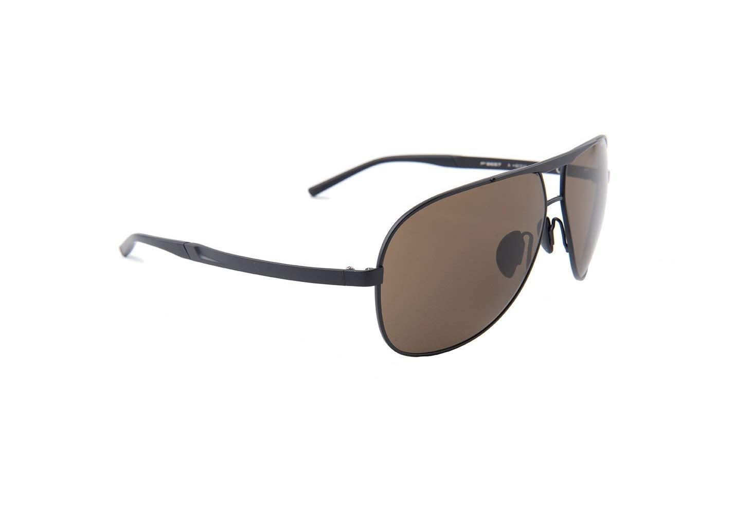 Porsche Design Titanium Sunglasses P8657 A Black 62-11 - Unisex by Porsche Design