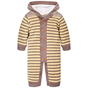ZOEREA Kids Outfit Sweaters Velvet Knitted Hooded Striped Dark Blue Label 70