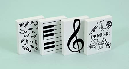 Music Sales - Juego de gomas de borrar, diseño musical