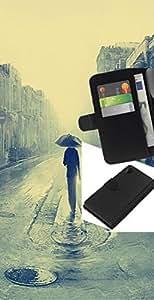 // PHONE CASE GIFT // Moda Estuche Funda de Cuero Billetera Tarjeta de crédito dinero bolsa Cubierta de proteccion Caso Sony Xperia Z2 D6502 / Rainy London Painting /