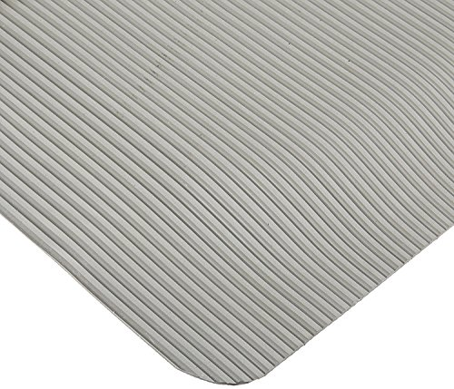 Rhino Mats ETT2460G Ribbed Vinyl Easy Kleen Anti-Fatigue Mat, 2' Width x 5' Length x 1/2