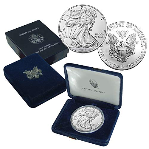 (2019 American Silver Eagle Coin $1 Brilliant Uncirculated US Mint Box)