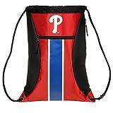 MLB Philadelphia Philliesbig Stripe Zipper Drawstring Backpack, Philadelphia Phillies, One Size