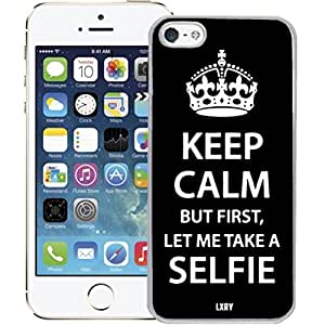 Keep Calm But First Let Me Take A Selfie Case For Iphone 6 Plus 5.5 Inch Cover (White Case)