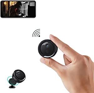Mini WiFi Camera Wireless Camera, VIONMIO 1080P HD Mini Security Camera with Phone App for Home Indoor Outdoor Tiny Portable Nanny Cam with Night Vision/Motion Detection Alerts