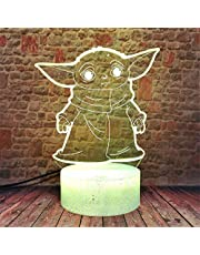 Anime 3D Optical Illusion Lamp Remote Control Acrylic Flat & ABS Base & USB Cable Toy for Anime Fans