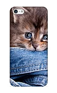Inthebeauty Durable Animal Cat Back Case/ Cover For Iphone 5c For Christmas