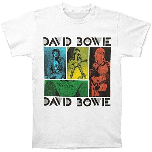 David Bowie Colored Squares T-shirt-xl