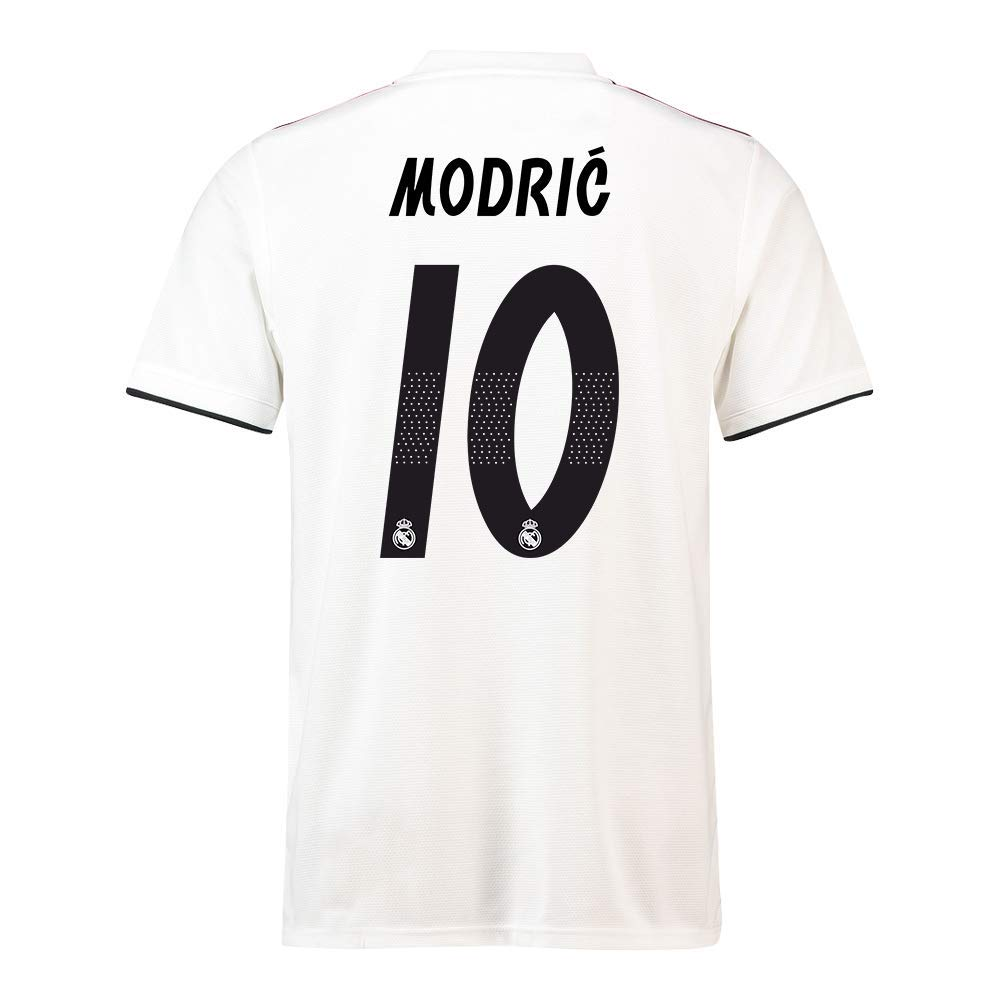 2018-19 Real Madrid Home Football Soccer T-Shirt Trikot (Luka Modric 10) - Kids