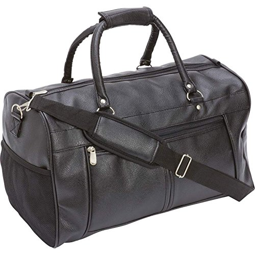 Mans Womens Travel Faux Leather Clothes Travel Tote Shoulder Storage Duffle Golf Gear Bag