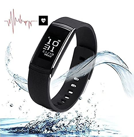 pressure waterproof white wristband bluetooth bracelet blood black health heart p sku smart rate monitoring