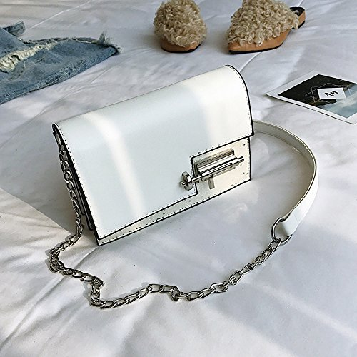 Satchel White PU Messenger À Crossbody Bandoulière Sequin Silver Purse Sac Bag ZwSqv0w