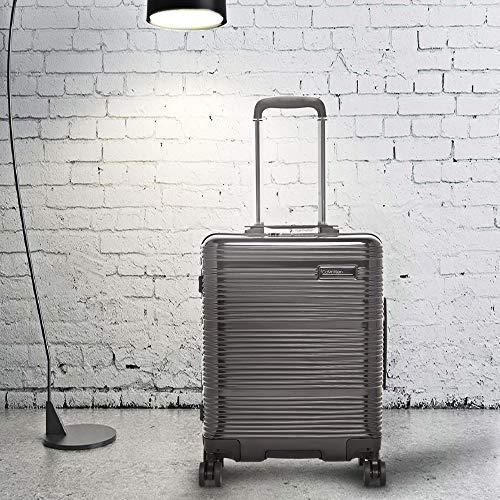 Calvin Klein Globetrotter Hard Side Cabin Luggage Trolley Black 20 inch | 55 cm