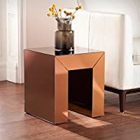 Schiaparelli Mirrored Accent Table in Bronze