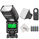 Neewer NW610 Manual Flash Speedlite with 5 in 1 Wireless IR Remote Control, 4