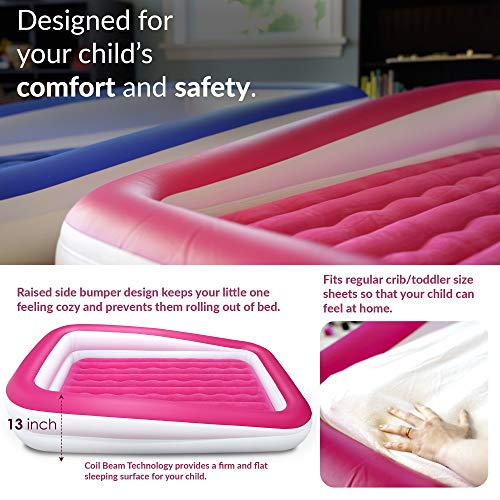Enerplex Kids Inflatable Toddler Travel Bed Portable Air