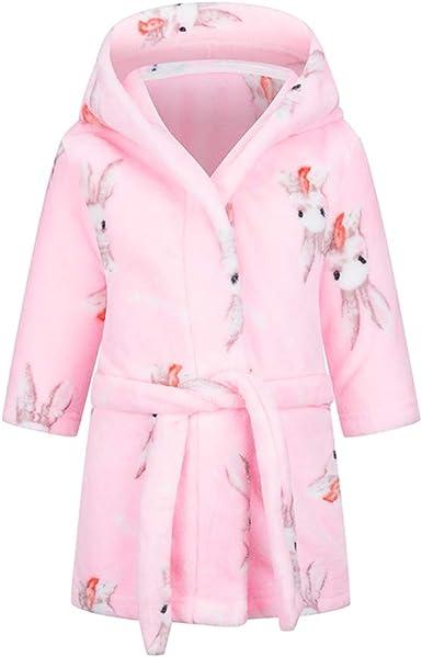 Oferta amazon: Taigood Albornoz niños niñas con Capucha Batas niño Suave Pijamas Ropa de Dormir niños Talla 5-6 años