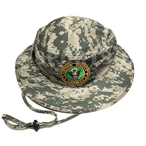 (Army Gear U.S. Military U.S. Army Bucket Hat Digital Camo Desert Men's Fishing Boonie Hiking Hunting Outdoor Cap Dad Hat Best Fathers day)
