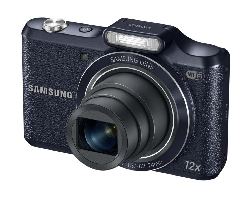 Samsung WB50F 16.2MP Smart WiFi & NFC Digital Camera with 12x Optical Zoom and 3.0'' LCD (Black) by Samsung