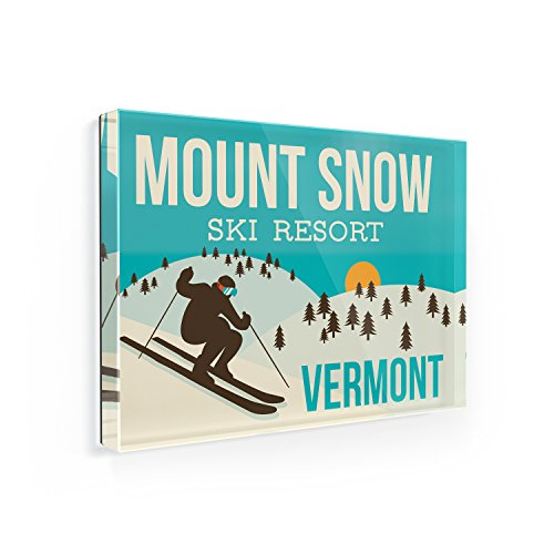 Fridge Magnet Mount Snow Ski Resort - Vermont Ski Resort - NEONBLOND