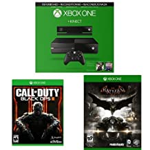 Xbox One with Kinect Refurbished Bundle with Call of Duty: Black Ops 3 and Batman Arkham Knight
