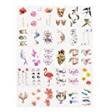 30pcs Sheet Temporary Metallic Tattoo Gold Silver Flash Tattoos Inspired