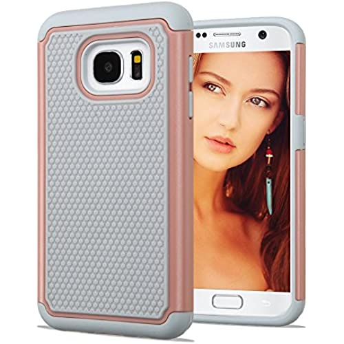 Samsung Galaxy S7 Case, JoJoGoldStar Rubber Track Hybrid, Slim Fit Heavy Duty Polycarbonate and Silicone TPU Cover Sales