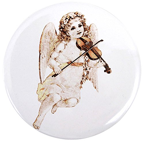 2.25 Inch Button Little Vintage Angel Playing (Heavenly Angel Pins)