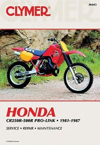 honda cr250 500r pro link 81 87 clymer workshop manual penton rh amazon com 2006 CR250 Repair Manual 1998 Honda CR250 Manual