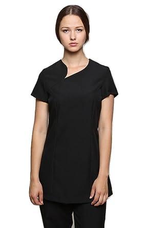753ef953c4b Mirabella Health and Beauty Clothing Women's Divina Nail Hairdressing Spa  Tunic Uniform 6 Black