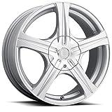 18X7.5 5-4.5 & 5-4.25 Ultra 403S Slalom Bright Silver Wheels
