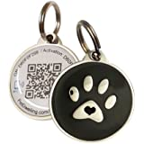 Smart Pet ID Tag w/ QR Code | NFC Tap | URL Link for Mobile / Web w/ Last Scanned GPS Location
