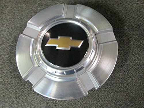 18 Inch OEM Chevy 6 Lug Machined aluminum Center Cap Hubcap Wheel Cover 2007-2014 # 9596343 or 9597991 5291 Silverado Suburban Tahoe Avalanche 1500 Pickup Truck Suv