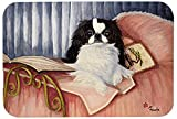 Caroline's Treasures MH1058LCB Japanese Chin Reading In Bed Glass Cutting Board, Large, Multicolor